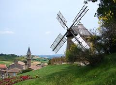 Lautrec (Maxofmars) Tags: france windmill moulin frankreich europa europe dorf village pueblo frankrijk tarn campagne francia dorp aldeia villaggio