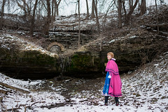 Anna at the Falls -15 (YGKphoto) Tags: park winter anna snow cold minnesota frozen costume cosplay outdoor minneapolis disney minnehaha