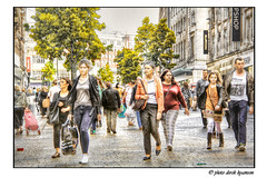 CHURCH STREET (Derek Hyamson) Tags: people liverpool candid churchstreet hdr shoppers pse8