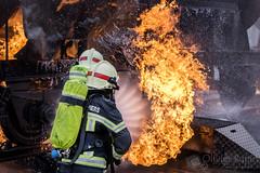 Exercice Wangen (Olivier Rapin) Tags: wagon fire explore firefighter pompier feu apr wangen sonyalpha77 20160416