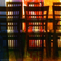 Please be seated (Lemon~art) Tags: texture table colours chairs room indoor dining six