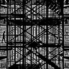 getting trapped (fifich@t - (sick) 2016 = Annus Horribilis) Tags: fificht nikond300 ima paris symbolic conceptual thecage trapped squarepicture parisinblackandwhite frs spectacularstaircase jeannouvel escherstyle staircase easterday2016 escher arabworldinstitute institutdumondearabe genesis inthecage petergabriel philcollins swansong labyrinth easterday2016crisis silhouette decisivemoment jail hopelessness absurdity enfermement