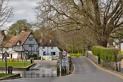 Eynsford Village Kent (Wizard of Wonders) Tags: uk bridge trees england ford grass river kent village stonewalls britian waterway victorianhouse eynsford