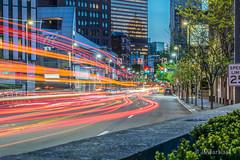 Pittsburgh Lights (M0rris82) Tags: city longexposure sunset night downtown pittsburgh cityscape lighttrails nikon70200 nikond810