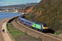 Bristol Green City 2015 | 43192 GWR HST | Langstone Rock (Western Railway Photography) Tags: city green rock speed train bristol high great first railway class western warren intercity 43 125 hst dawlish langstone 2015 ic125 43192