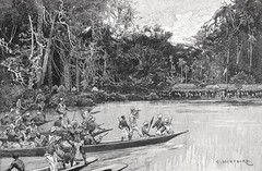 """""""Meeting With the Rear Column at Banalya.""""  From """"In Darkest Africa"""" by Henry M. Stanley. NY: Scribner's, 1890. (lhboudreau) Tags: africa trees lake tree expedition illustration forest boats book boat exploring explorer lakes illustrations books adventure jungle stanley adventures explorers 1890 bookart henrystanley africans hardcover natives firstedition vintagebook expeditions antiquebooks antiquebook vintagebooks africancontinent scribners classicbook hardcovers classicbooks hardcoverbooks blackafrican darkcontinent hardcoverbook charlesscribnerssons thedarkcontinent nativecanoe charlesscribners blackafricans indarkestafrica henrymstanley nativecanoes africanexpedition banalya africanexpeditions"""