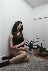 (Alberto Bandini) Tags: plants film girl grass tattoo nikon kodak f100 shootfilm