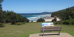 Bench with a fine view of the coast (spelio) Tags: camping camp coast pretty australia tm nsw 2016 murramarang murramurrang murrumurrang 923views030516