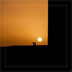 buena suerte good luck bonne chance (nmaicas) Tags: sunset shadow sun yellow hole mask shape goldenhour
