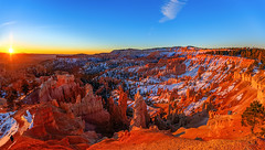 Bryce Amphitheater Panorama at Sunrise (Dave Toussaint (www.photographersnature.com)) Tags: travel november panorama usa sun nature photoshop sunrise canon landscape utah photo interestingness google interesting ut raw day glow photographer image scenic picture panoramic clear explore cc adobe getty hoodoo inspirationpoint epic stitched sunsetpoint southwesternutah rimtrail brycecanyonnationalpark 2015 silentcity paunsauguntplateau denoise topazlabs bryceamphitheater photographersnaturecom davetoussaint 5dmarkiii creativeclloud