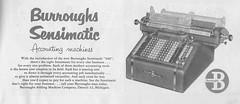 Burroughs Adding Machinge Ad - 1952 (Howard258) Tags: nostalgia 1950s nostalgic vintageads