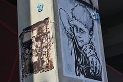Happy Fingers + RNST + Tarek_6055 boulevard du Gnral Jean Simon Paris 13 (meuh1246) Tags: streetart paris enfant paris13 tarek happyfingers rnst lelavomatik boulevarddugnraljeansimon