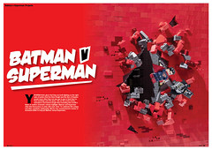 Blocks Issue 18 (brick.spartan) Tags: broken wall lego debris superman falling superhero batman blocks moc