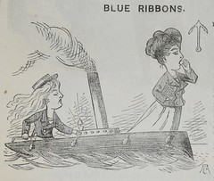 vignette, Blue Ribbons - Punch 1873 (AndyBrii) Tags: woodcuts satire punch wit engravings 1873