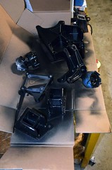 Painted02 (john.and.kath) Tags: black chevrolet painting conversion engine mount swap satin impala ls 1965 pedestal 60l l98 jrd ls2 l76 anciliarydrivebrackets