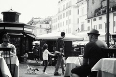 people watching in Rome (rictango) Tags: street people italy rome fedora piazza