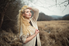 moor (Michael Kremsler) Tags: winter portrait grass fashion cord model bokeh outdoor blond moor