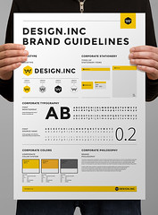 Brand Manual and Identity Poster (inspiration_de) Tags: print poster minimal identity branding infographics guideline