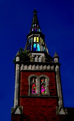 An Illuminated Spire...? (Aidan McRae Thomson) Tags: church glass idea stainedglass spire worcestershire methodist demolished redditch headlesscross