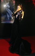 Strike a pose! (MaxxieJames) Tags: red black film movie carpet doll dolls dress secret barbie move velvet made actress teresa brunette gown manor premier mattel collector vittoria the blutmere