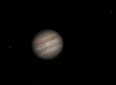 20160419 20-54UT Jupiter Callisto and Europa IRRGB (Roger Hutchinson) Tags: europa space astrophotography planets astronomy jupiter solarsystem celestron callisto asi120mm