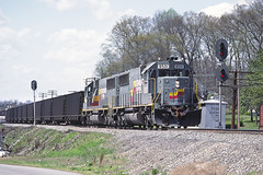 rr3586 (George Hamlin) Tags: railroad train georgia photography photo george diesel system signals coal siding decor freight loads locomotives hamlin acworth emd seaboard sd50