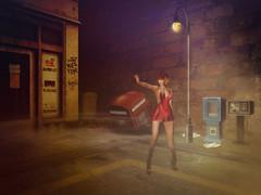 Stopping Traffic (Peep.Sideshow) Tags: bodylanguage secondlife friday urbanjungle untitled drd secondlifeshopping applemaydesigns ~tableauvivant~ collabor88 picsbypeep lumiprohud shinyshabby