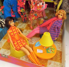 KNIT HITS (ModBarbieLover) Tags: casey mod doll stripes patterns barbie 1968 knits tnt francie