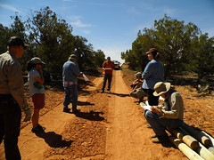 Safety Discussion (BLMUtah) Tags: friends archaeology field fence project utah office day earth rail cedar kane volunteer buck monticello partnership mesa cultural resources gulch blm bureauoflandmanagement stewardship earthday2016