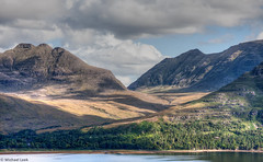 Beinn Alligin and the Torridon Forest (Michael Leek Photography) Tags: light mountains nature weather clouds forest landscape scotland highlands shade loch hdr highdynamicrange westerross scottishhighlands lightandshade westernhighlands westcoastofscotland scottishlandscapes scottishlochs scottishcoastline scotlandslandscapes awesomescotland michaelleek michaelleekphotography