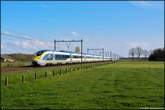Eurostar 4013/4014, Roosendaal (NL) (Goederenboer) Tags: london amsterdam eurostar 4014 roosendaal 4013 testritten transitie