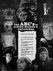 The ABC's of Aliens, Beasts and Creatures 01 (Tom Simpson) Tags: film werewolf vintage zombie ghost dracula frankenstein horror undead frankensteinsmonster medusa wolfman famousmonsters