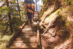 Hard work, work Hard@Mt. Jade, Taiwan. (Evo-PlayLoud) Tags: bridge light portrait people sunlight mountain mountains green forest portraits canon landscape lights scenery taiwan tokina  mtjade mountaineer  lightshadows 550d  1116mm tokina1116mmf28 canon550d canoneos550d
