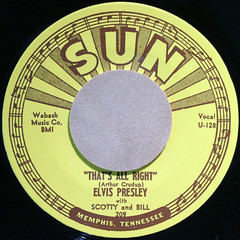 ELVIS PRESLEY - THAT'S ALL RIGHT (Leo Reynolds) Tags: xleol30x squaredcircle 45rpm record single vinyl platter disc panasonic lumix fz1000 sqset125 xx2016xx sqset