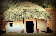 Traditional hut (Deepak Anilkumar) Tags: india traditional culture hut rajasthan udaipur