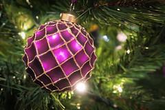Shining, shimmering, splendid! (juliannebritton) Tags: christmas tree glitter canon lights purple decoration hanging bauble shining shimmering splendid g5x