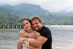 Melyssa and Me at Hanalei Bay (bflinch1) Tags: summer vacation portrait people selfportrait love hawaii pier couples depthoffield kauai hanaleipier hanalei summervacation selftimer hanaleibay selfportrature hawaiianadventure