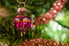 Bauble (Spannarama) Tags: macro tree closeup shiny pretty bokeh christmastree christmasdecorations bauble christmastreedecorations