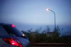 DSC00660c2 (haru__q) Tags: street light car twilight streetlight ar sony konica   a7   hexanon