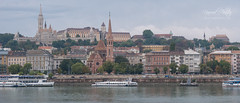 West bank of river Dunabe with a view of Castle District (4k 21:9) in Budapest, Budapest with Panasonic DMC-GX7
