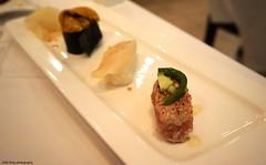 Sushi at Hamamori (deeeelish) Tags: fish sushi clam uni jalapeno seaurchin hamachi