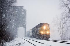 Chaska in the Snow (Peyton Gupton) Tags: railroad train sub rail railway trains peyton kd morley csx habersham gupton 542 csxt chaska