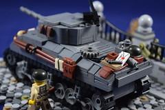 Sherman M4A3 Tank (molegode_official) Tags: tank lego ww2 sherman moc m4a3