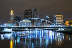 (288) Main Street Bridge // Columbus, Ohio Skyline (Kyle Beecher Media) Tags: street new city bridge columbus ohio train river downtown view main tracks best oh scioto tressel
