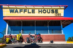First stop, Waffle House!
