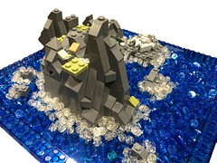 View from Above (samiam391) Tags: ocean island star starwars lego luke 7 millennium legos falcon wars episode vii skywalker episodevii lookingforluke