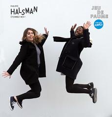Ah, la souplesse de la jeunesse ! (john-aves-1946) Tags: paris jump saut jeudepaume halsman jumpology
