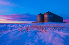 Up On A Hill (stevenbulman44) Tags: pink blue winter sky cloud snow calgary canon landscape container filter alberta lee lseries gnd 2470f28l