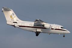 ZE700 (GH@BHD) Tags: corporate aircraft aviation military zurich transport wef bae executive zurichairport raf airliner transporter bae146 kloten zrh bizjet royalairforce ze700 no32squadron bae146cc2 wef2016