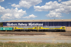 "2016-01-13 QUBE QBX006-QBX005 on Transfer to Junee on 1311 at Goulburn Up Refuge (Dean ""O305"" Jones) Tags: au australia newsouthwales goulburn"